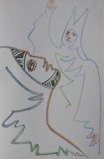 COCTEAU Jean : Le masque  - LITHOGRAPHIE Originale #1967 #MOURLOT