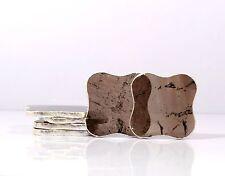 Natural Smoky Rock Crystal Quartz Coasters Set of 6 Home Table Decoration