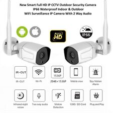 IP66 WaterProof WIFI Wireless 1080P CCTV Security IP Camera Outdoor Night Vision