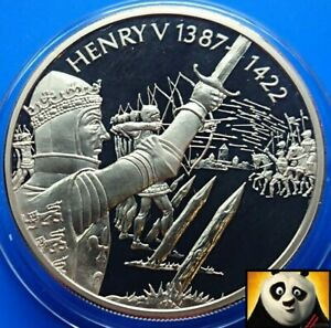 2003 EAST CARIBBEAN STATES $2 Dollar King Henry V Gold Plated Coin