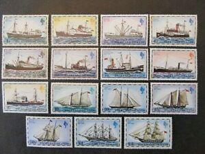 FALKLAND ISLANDS, SC# 260-274, MAIL SHIP SET (1978) MNH