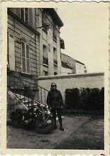 PHOTO ANCIENNE - VINTAGE SNAPSHOT - MOTO MOTARD MOTOCYCLETTE - MOTORBIKE