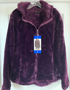 Dark BlackBerry, X-Large 32 Degrees Heat Womens Mixed Media Jacket