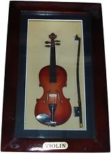 "Shadow Box framed with handmade collectible miniature Violin (6.8"" x 4.8"")"