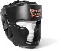 Kopfschutz von Paffen Sport, in Gr. S/M, M/L und L/XL. Kinn und Jochbeinschutz