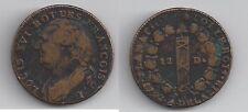 Gertbrolen 12 Deniers  en cuivre Constitution Louis XVI  1792 Limoges