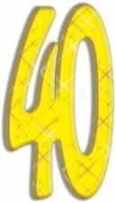 número 40 - lifesize Silueta de cartón / Figura Pie