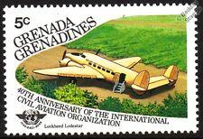 LOCKHEED LODESTAR Model 18 Aircraft Stamp (1985 Grenada Grenadines)
