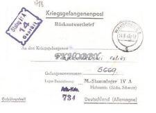 Camp Stalag IVA Hohnstein 1943 POW Prisoner of War Kriegsgefangenenpost (L1)