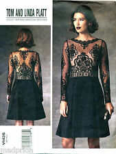 VOGUE SEWING PATTERN 1428 MISSES 16-24 FLARED DRESS W/ LACE BODICE - PLUS SIZES