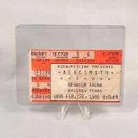 Aerosmith Reunion Arena Dallas Texas TX Concert Ticket Stub Vintage Feb 20 1986