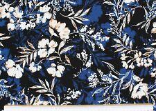 Quality Textiles Diamond melange Jersey Steppsweat 140 cm navy meliert