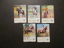 2014 Australia Self Adhesive Post Stamps~Equestian Events~Fine Used, UK Seller