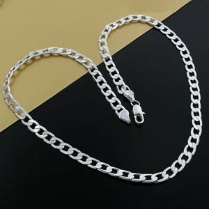 """16""""-24"""" Mens Womens 925 Sterling Silver 8mm Cuban Curb Link Chain Necklace #N223"""