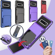 For Samsung Galaxy S20+ Ultra /Note 10+/S10 Card Holder Pocket Wallet Case Cover