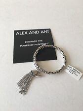 Alex And Ani Coil Tassel Wrap Bracelet Silver-tone New