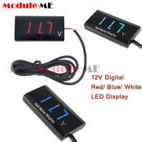 12V Digital Red/ Blue/Ice Blue LED Display Voltmeter Panel Voltage Meter For Car