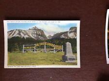 F1k postcard unused the great divide hudson bay and the atlantic ocean