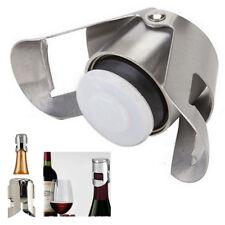 Stainless Steel Champagne Stopper Sparkling Wine Bottle Plug Sealer Bar Cap Cork