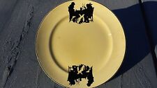 "Vintage Rare Crooksville China Silhouette w/ Dog 9"" Dinner Or Salad Plate  #434"
