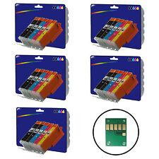 5 Sets Compatible Impresora Cartuchos De Tinta Para Canon Pixma ip7250 Impresora [ 550/1 ]