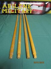 4 ARMY COT INSECT NET POLES 4 POLES FOR MOSQUITO NET INSECT BAR USED