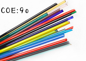 COE 90 L40-50mm 250g Mixed colors Fusing Glass Stringer Lampworks Glass Rods