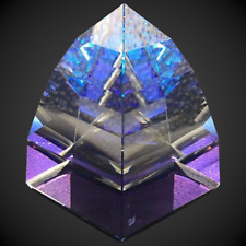 Swarovski Crystal Pyramid Paperweight, Blue Purple Helio Small, Very Rare