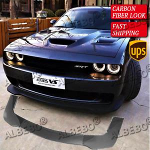 US Carbon Fiber Look Front Bumper Lip Splitter Spoiler For Dodge Challenger SRT