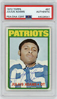 1972 PATRIOTS Julius Adams signed ROOKIE card Topps #97 PSA/DNA AUTO Autographed