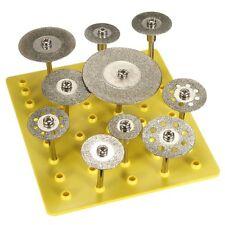 10 Pcs 3 mm / 2.35 mm Diamond Cut Off Saw Wheel Discs Blades Rotary Tool Set