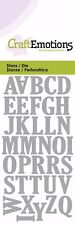 Upper Case Alphabet Letters Shaped Stencil Die Cutting Embossing Machine Sizzix