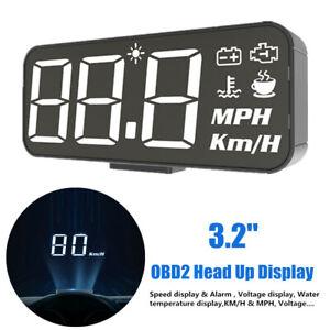 "3.2"" OBD2 Head Up Display Projector Car Speedometer Universal HUD GPS Projector"