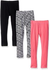 Freestyle Toddler Girls' 3pk Animal Print Hearts and Solid Leggings Set 2T