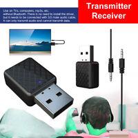 Wireless Auto 3.5mm AUX Bluetooth 5.0 Adaptador de audio Transmisor - receptor