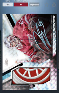 Topps Skate Digital Chrome Platinum Signature Card Jonathan Bernier. Legendary.