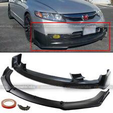 Fit 09-11 Civic 4Dr Sedan Mug-en Style Upper Cs Lower Front Bumper Lip Spoiler