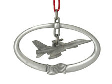 Vintage Pewter F-16 Fighter Jet  Christmas Ornament The Fighting Falcon