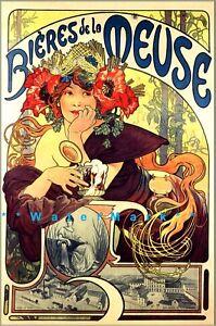 Vintage Art Posters Alphonse Mucha Advertising For Sale Ebay