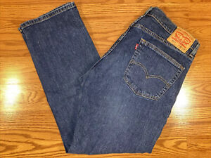 Levi's Men's 505 Regular Fit Straight Leg  Blue Jeans size 36 X 30