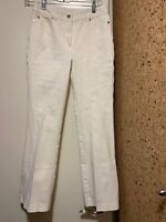 Escada Sport Women's Sz 34 (USA 2) Josephine White Jeans Bootcut