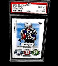 2010 TOPPS ATTAX FOOTBALL CODE CARD TOM BRADY PSA 10 NFL NEW ENGLAND PATRIOTS