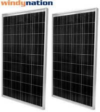 2pcs 100W Watts 100 Watt UL Solar Panel Off Grid 12 Volt 12V RV Boat Off Grid