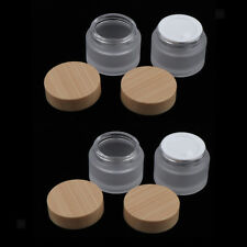 4x 20g frosted Glass Cosmetic Box Bottle Cream Jars Container Empty