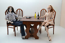 Bar Table + 4 chairs for Dolls 12 inches 1/6 dollhouse furniture FR Barbie