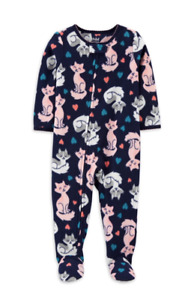 Carters Toddler Girls Kitty Cat Blanket Sleeper Pajamas 12 18 M 4 5T NWT