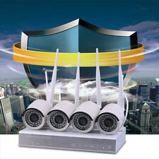 4CH NVR 720P HD IP Network PoE IR Outdoor CCTV Home Security Camera System US MU