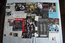 SPINAL TAP - MAGAZINE CUTTINGS COLLECTION - PHOTOS, CLIPPINGS, ARTICLES X32.