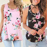 Women Casual VestTops Sleeveless Floral CropTop Vest Tank Shirt Blouse Cami Top