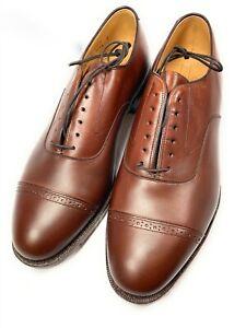 Johnston & Murphy Aristocraft 9 E/C Brown Leather Cap Toe Oxfords 24-8566 USA
